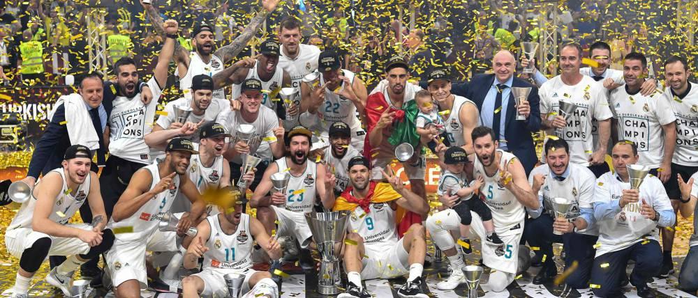 ريال مدريد يحرز لقبه العاشر في العصبة الاوروبية للسلة بفوزه على فناربخشة