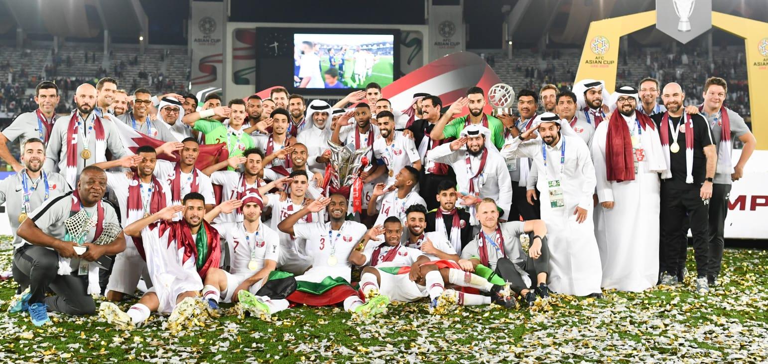 استقبال تاريخي للمنتخب القطري بعد تتويجه بكأس آسيا 2019