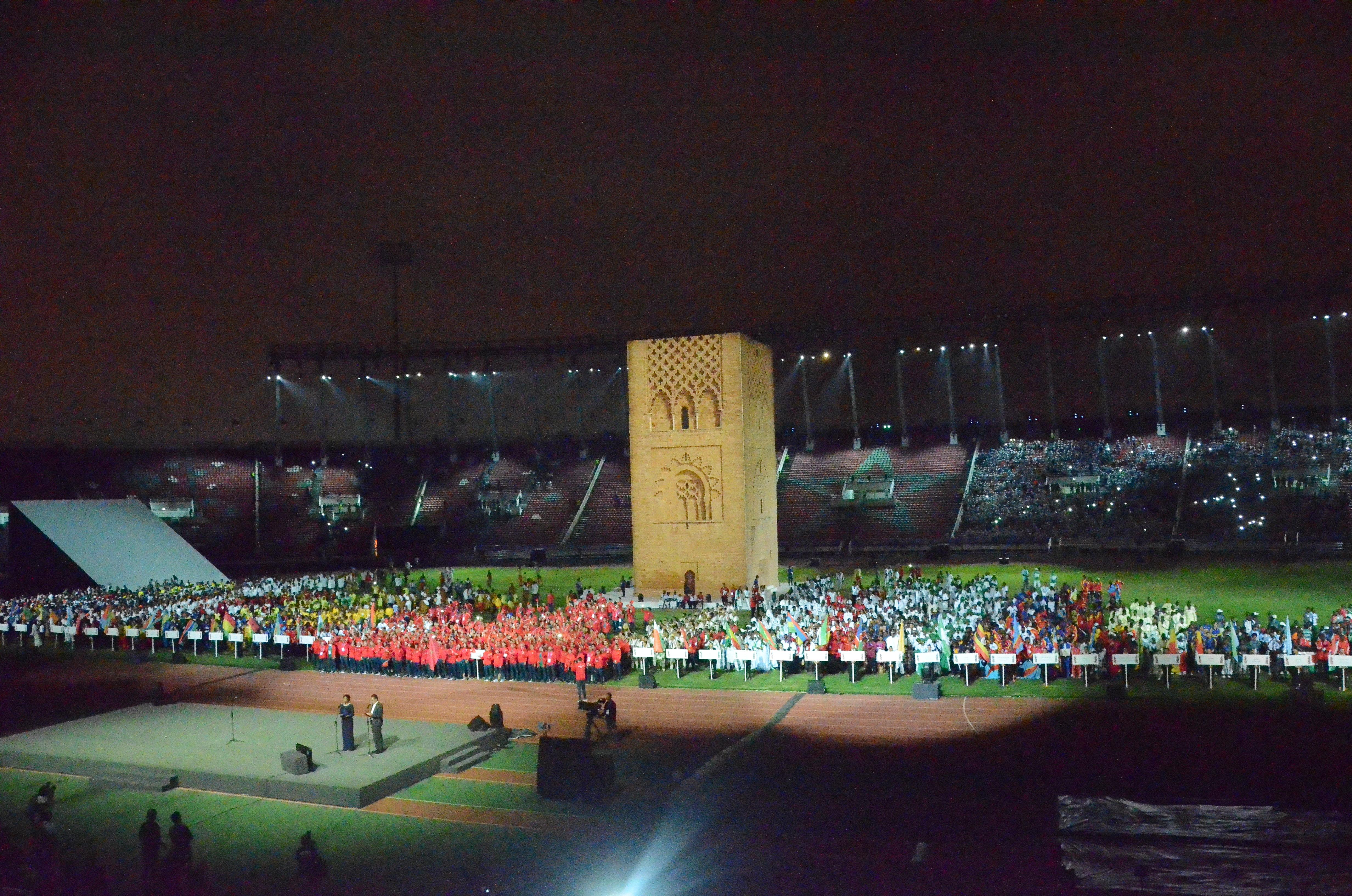 الرباط: تغطية المنتخب لحفل افتتاح الألعاب الافريقية