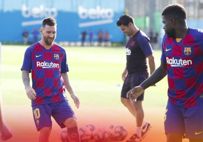 اخيرا تنفس جمهور برشلونة.. ميسي عاد !!