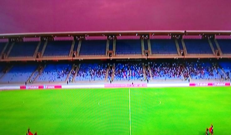 جمهور قليل حضر مباراة المغرب وبوركينافاسو