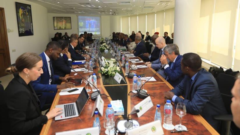 تقرير عن الاجتماع الأول لفريق العمل المشترك لإصلاح الكاف