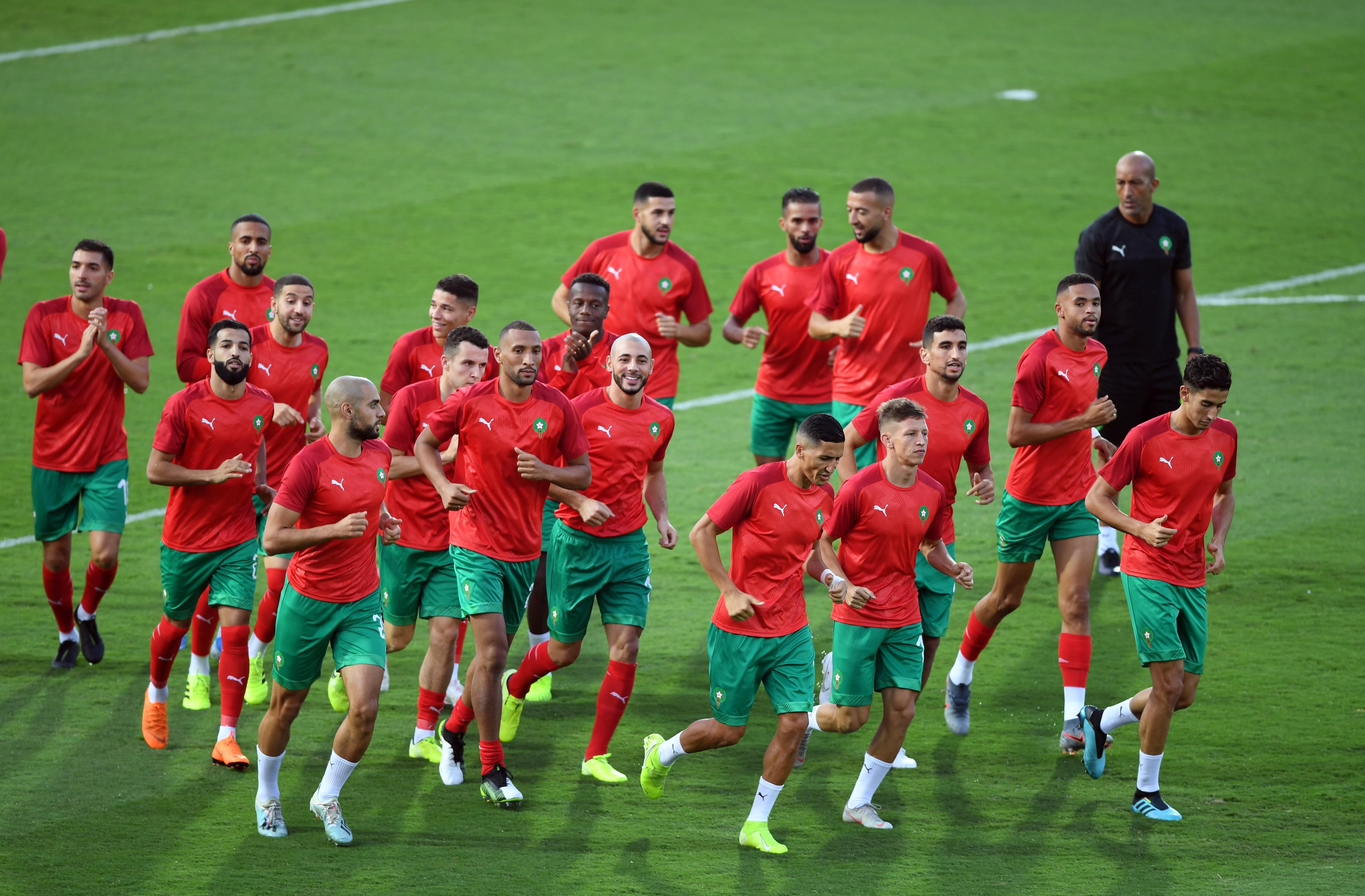 المنتخب المغربي وصل طنجة