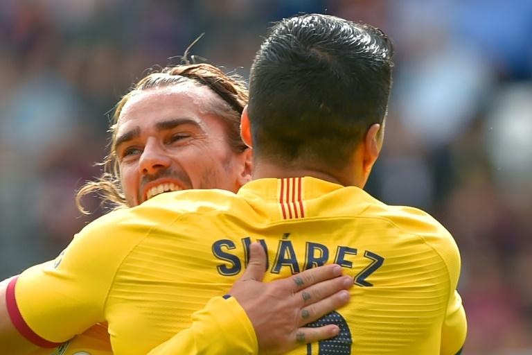 غريزمان  اندمج جيدا  مع برشلونة بحسب سواريز
