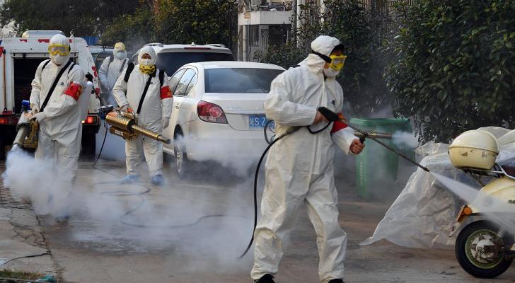 منظمة الصحة العالمية توصي بعدم رش المطهرات في الشوارع
