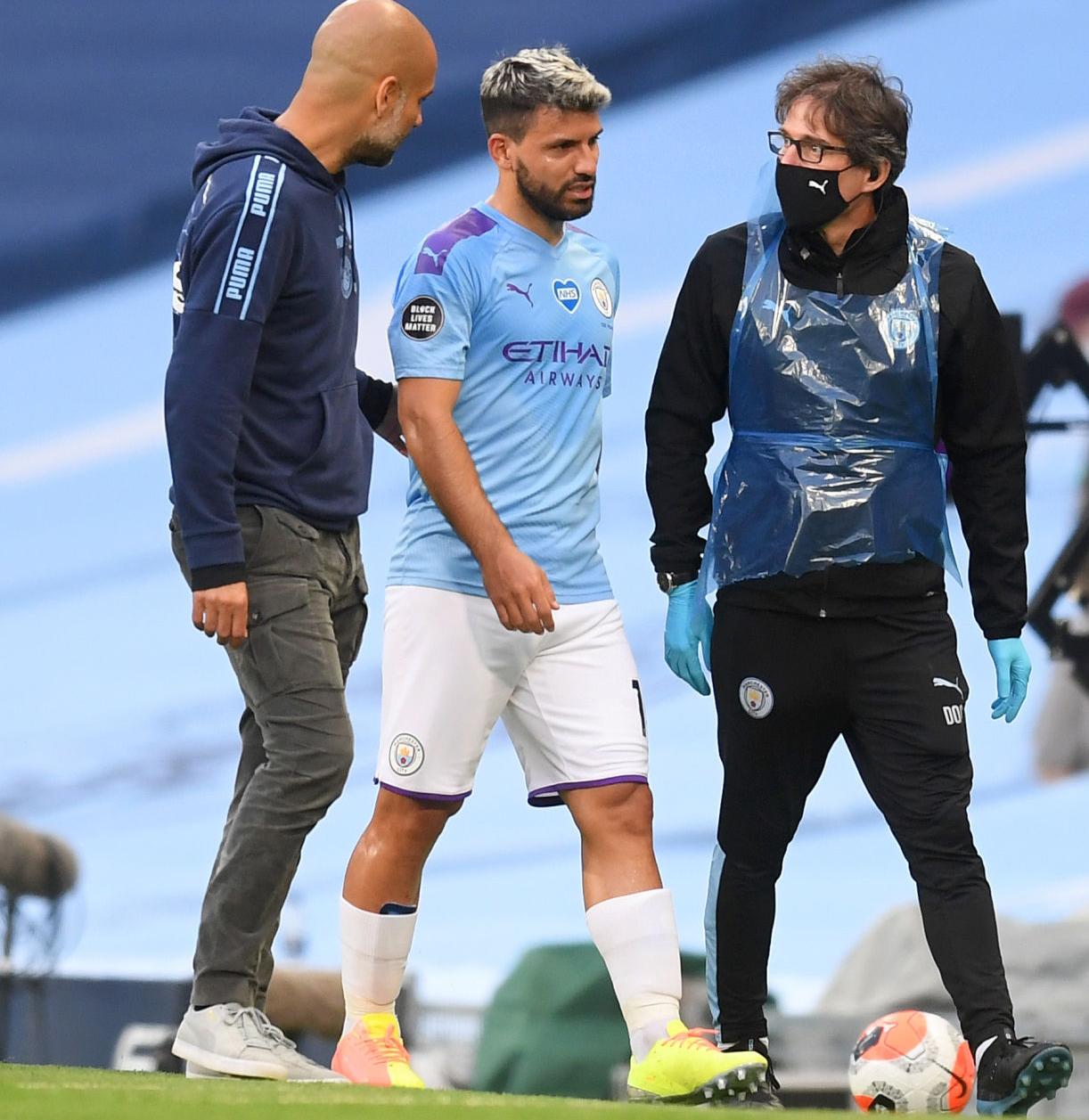 أغويرو يسافر إلى إسبانيا لمحاولة انقاذ ركبته.. وموسمه