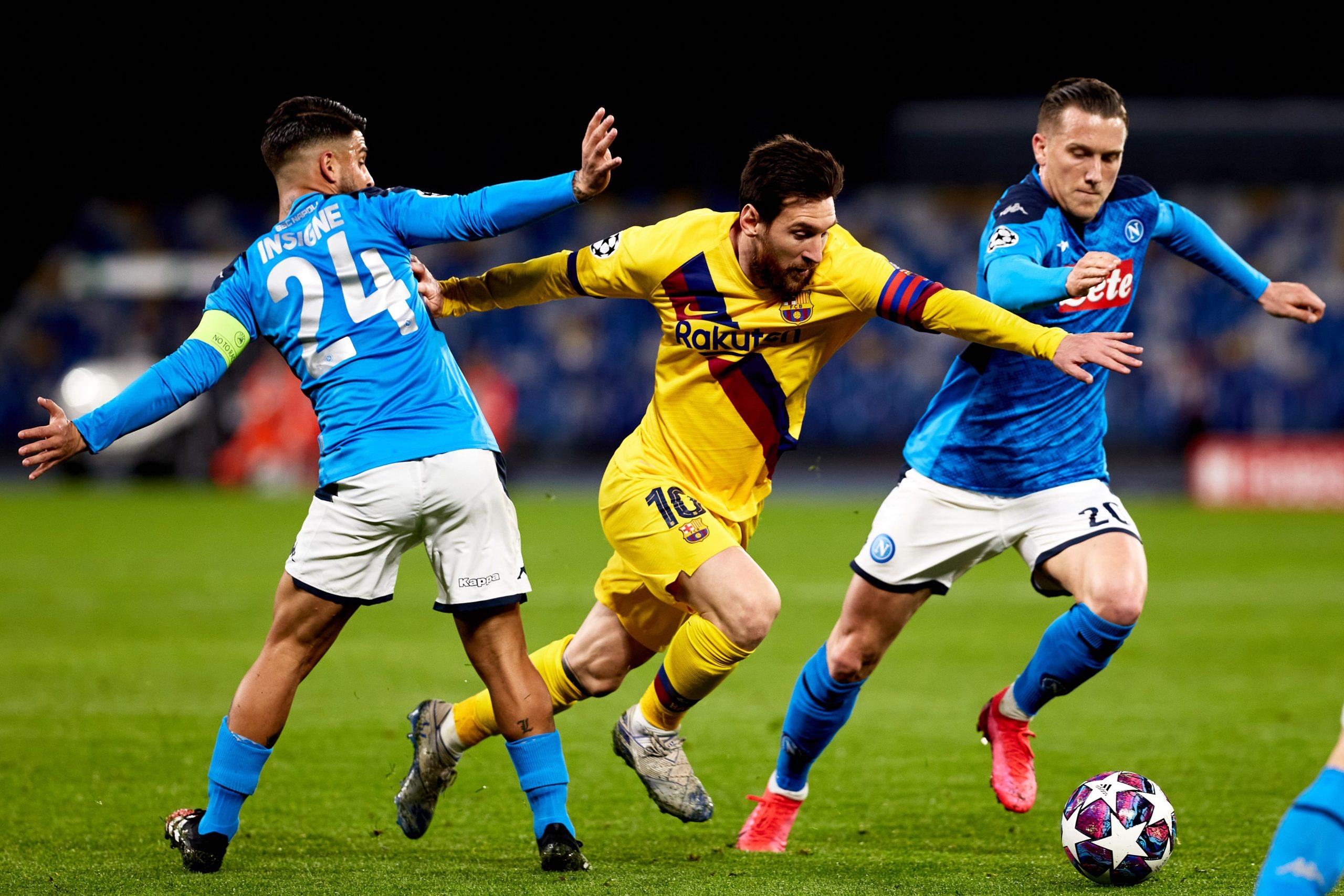 شكوك حول إقامة مباراة برشلونة ونابولي في الكامب نو