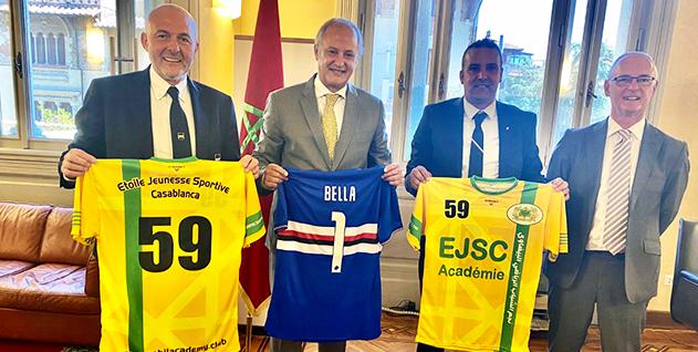 إطلاق شراكة بين سامبدوريا الإيطالي وفريق من الدارالبيضاء في مجال كرة القدم