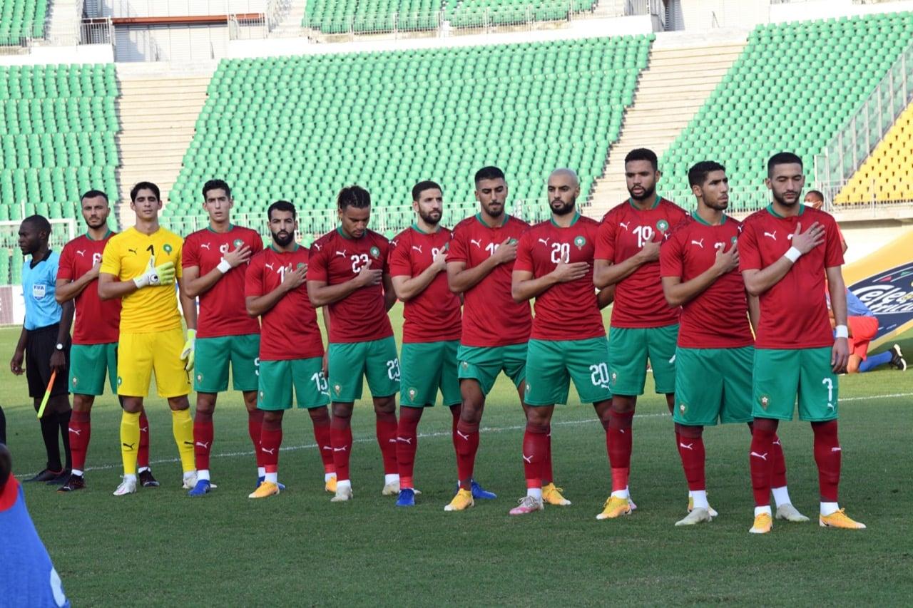 لاعبو المنتخب المغربي يرفعون درجة الحذر