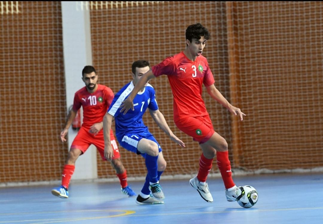 مباراة ودية.. المنتخب الوطني لكرة القدم داخل القاعة يفوز على منتخب أوزبكستان ( 5- 3)