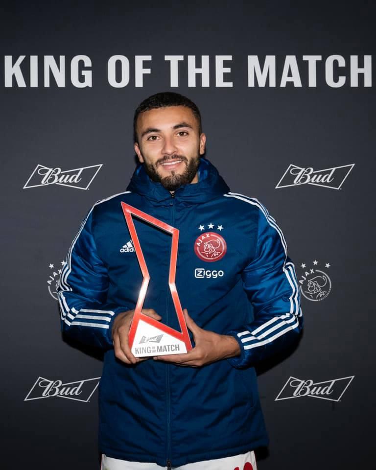 بعد توقيعه هدفين لبيض نال جائزة أفضل لاعب