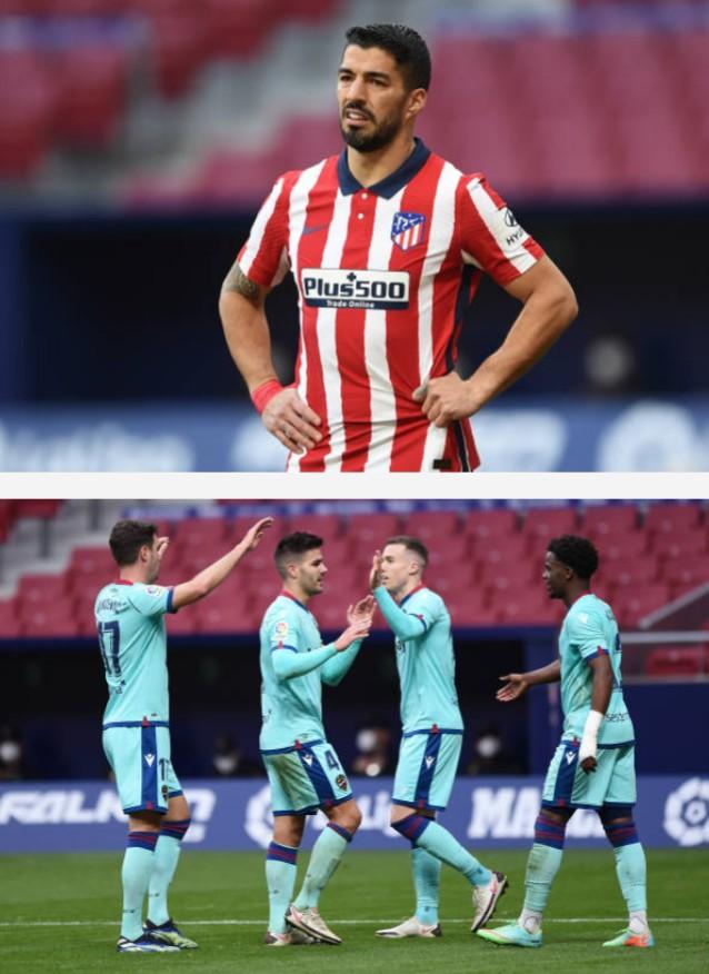 بطولة إسبانيا: ليفانطي يلحق الخسارة الثانية بأتلتيكو مدريد ويشعل المنافسة على اللقب