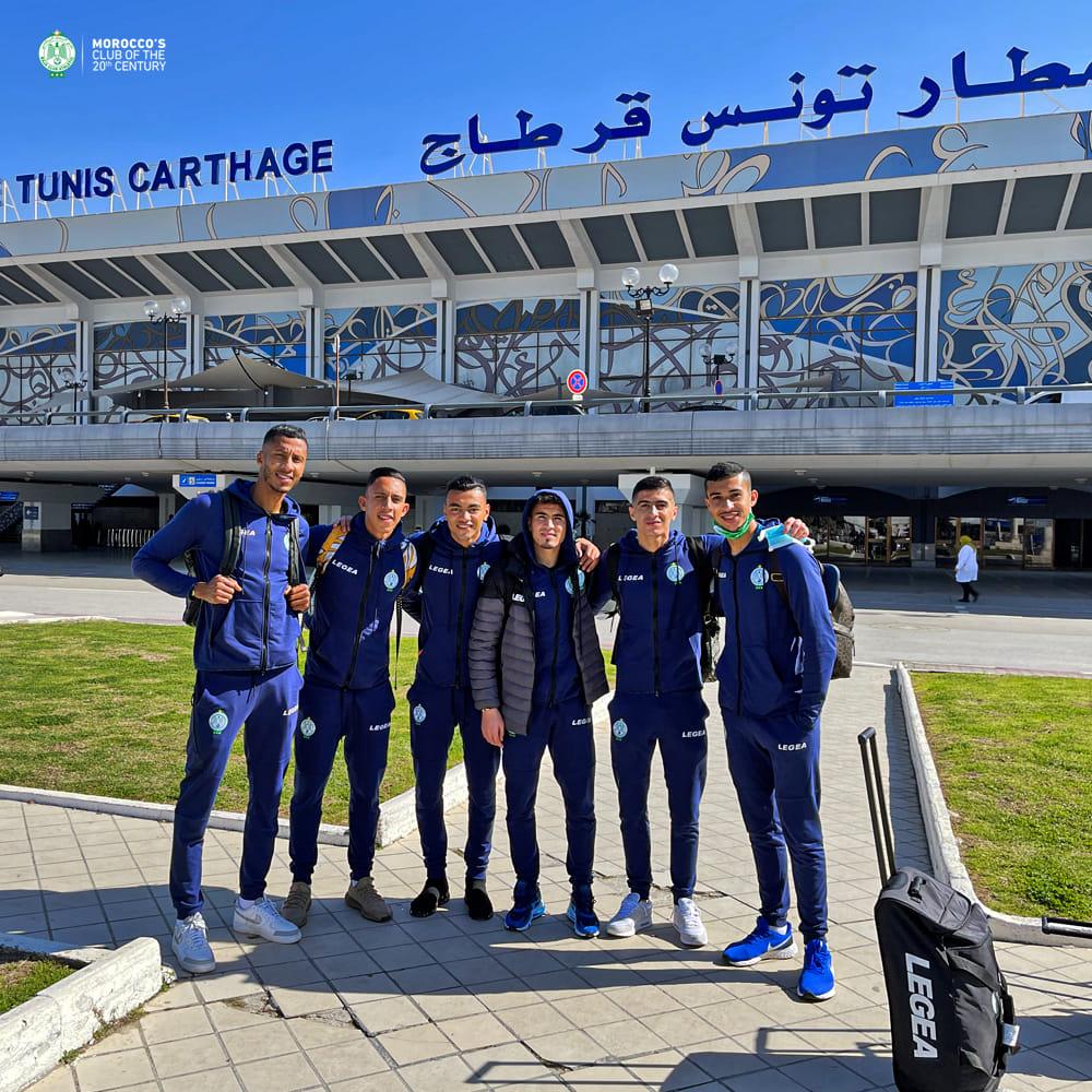 الرجاء يشد الرحال إلى تونس لمواجهة المنستيري