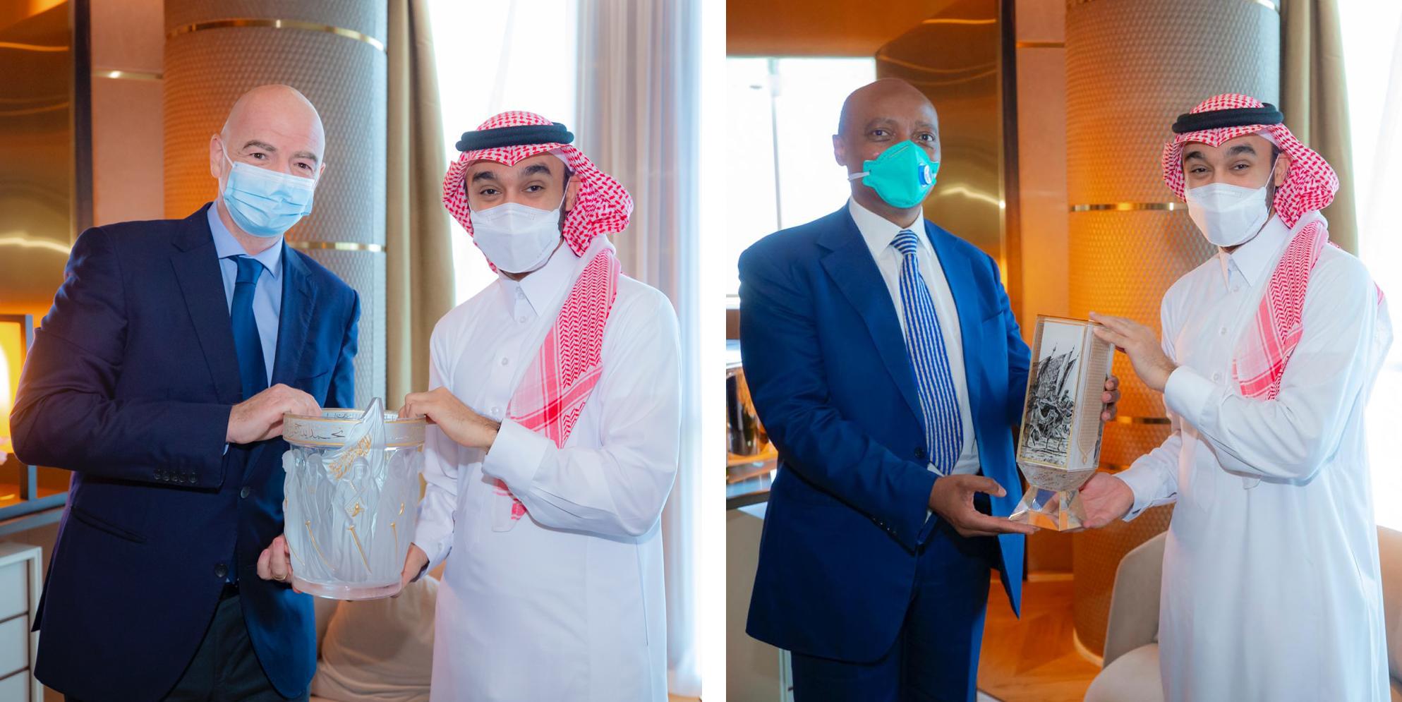 رئيس الاتحاد العربي التقى بإينفانتينو وموتسيبي