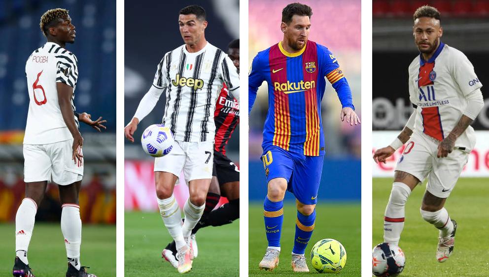 لاعب عربي ينافس الكبار.. تعرف على أكثر اللاعبين دخلا في عالم كرة القدم لسنة 2021