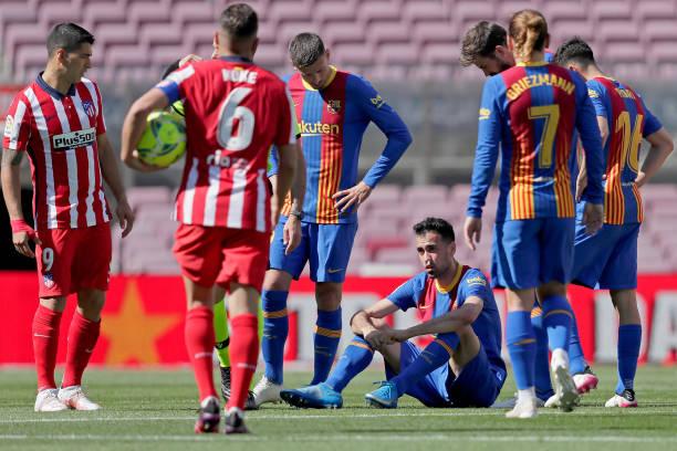 بوسكيتس يتعرض لاصابة أمام أتلتيكو مدريد