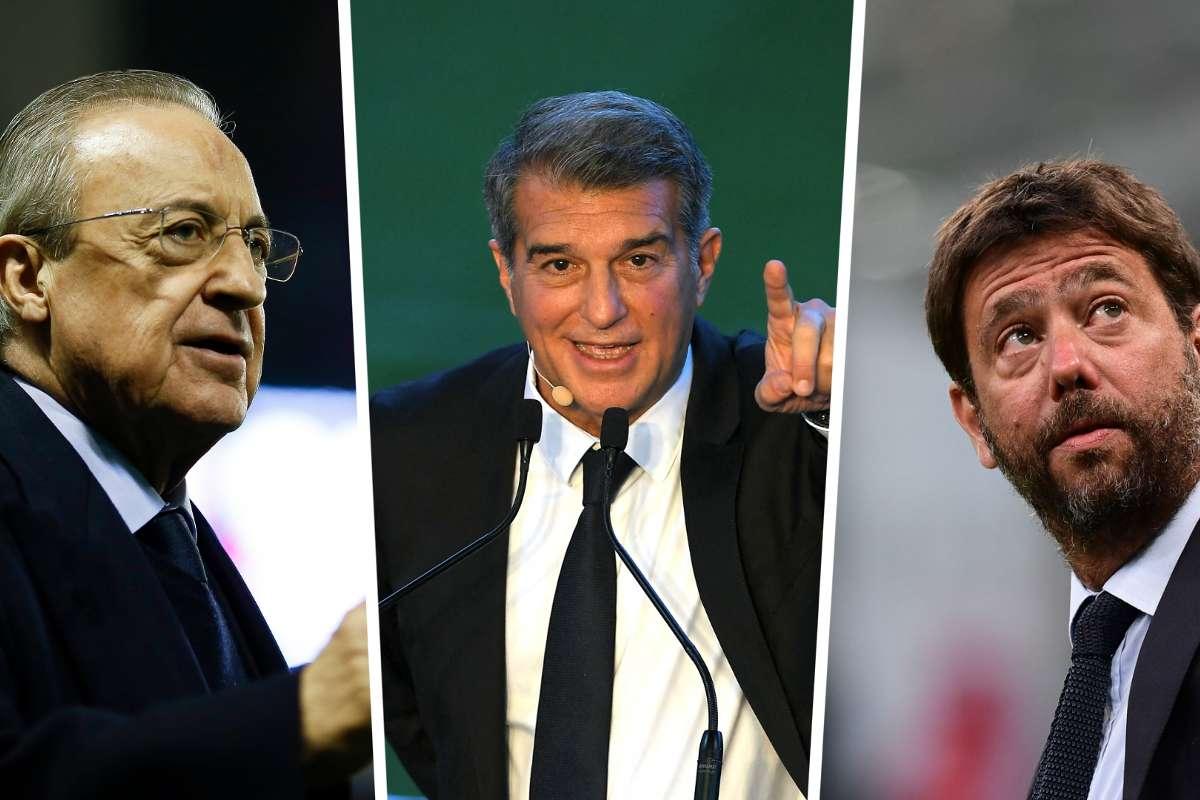 السوبر ليغ: فتح تحقيق تأديبي بحق ريال، برشلونة ويوفنتوس