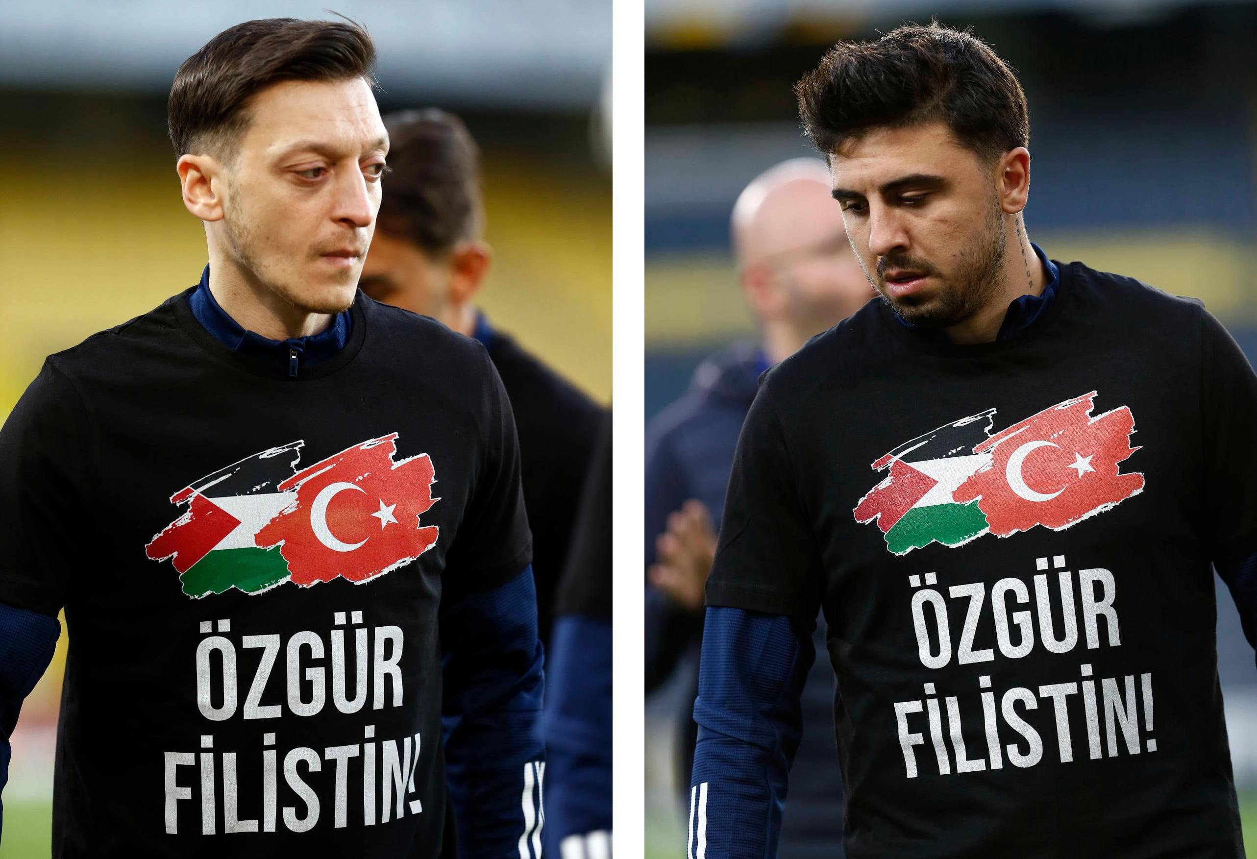 لاعبو فنربخشة التركي يرتدون قمصانا خاصة تضامنا مع فلسطين
