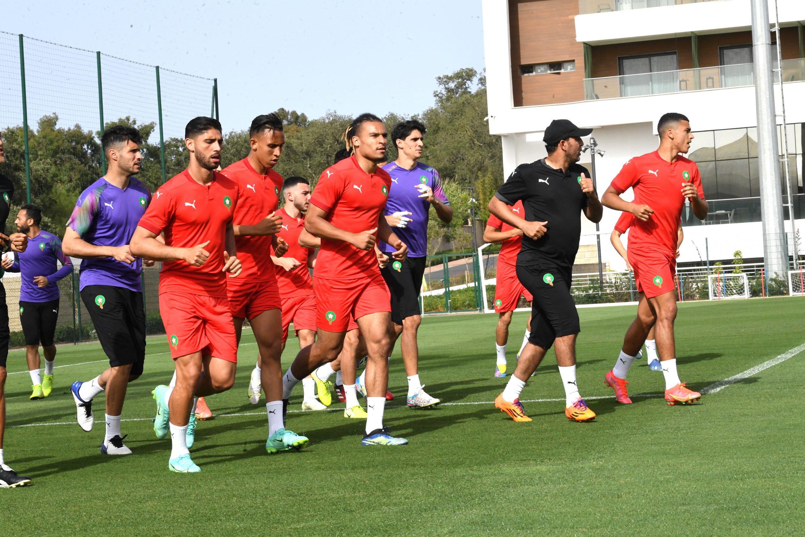المنتخب المغربي يخوض آخر حصة تدريبية قبل مواجهة بوركينافاسو