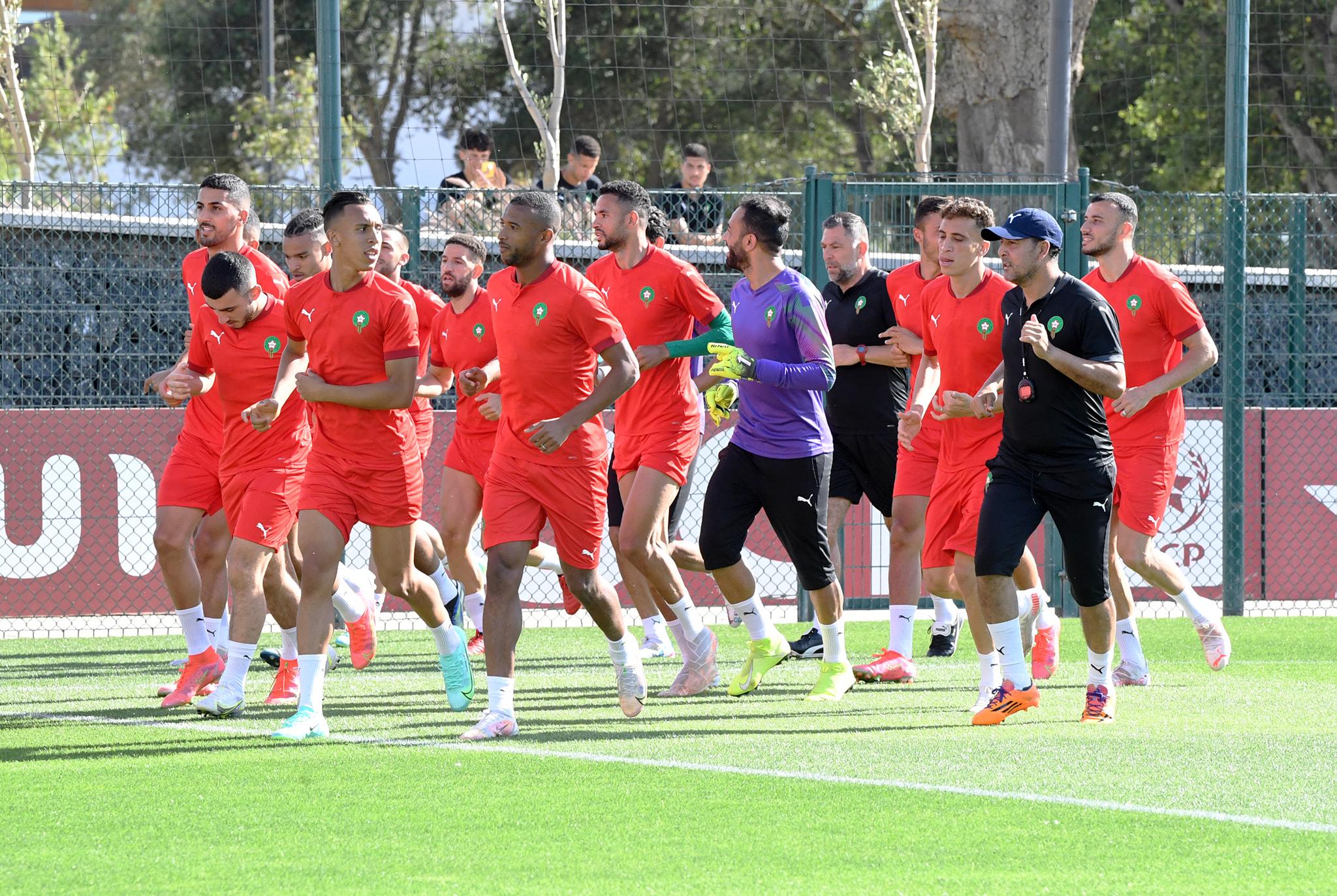 منتخب المغرب يجري آخر حصة تدريبية لمواجهة غانا