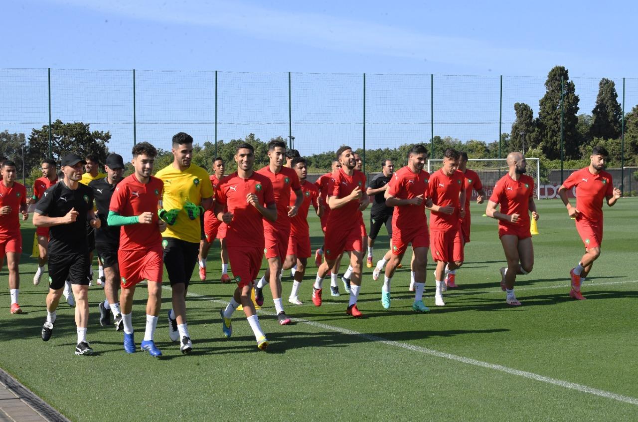 الجدية تطبع تداريب المنتخب المغربي