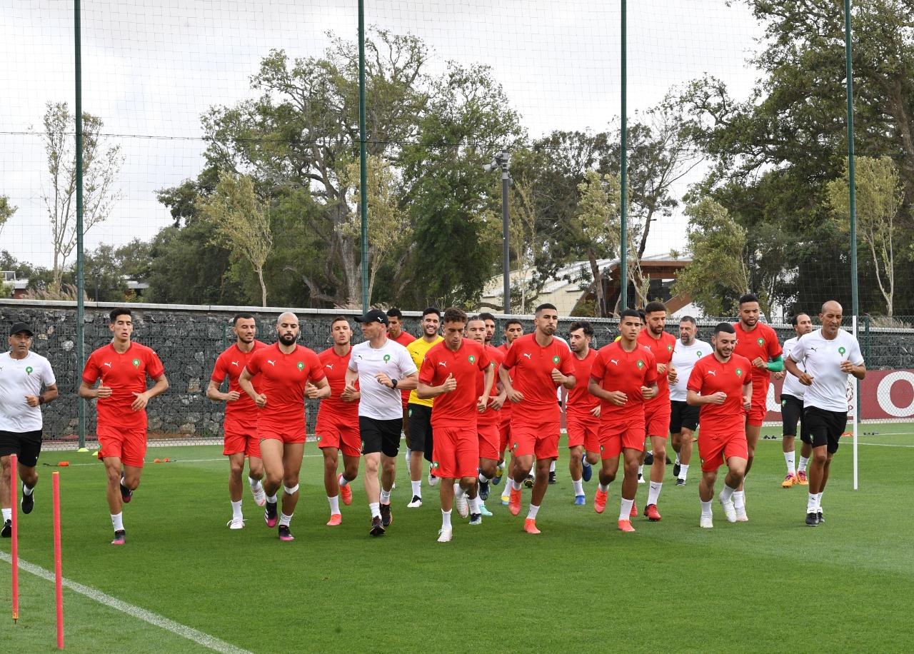 المنتخب المغربي يخوض خامس حصة تدريبية قبل إستفادته من راحة