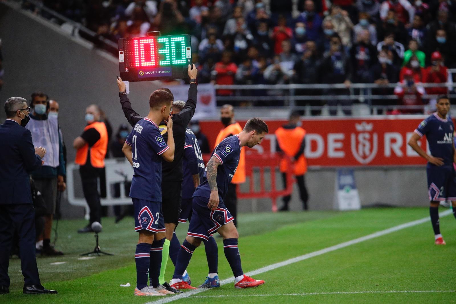 بطولة فرنسا: ميسي يشارك كبديل في مباراته الاولى مع سان جرمان أمام رانس
