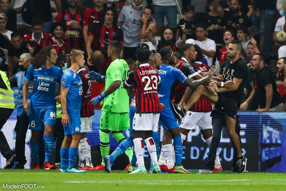 بطولة فرنسا: العصبة  تدين بشدة أعمال العنف  في مباراة نيس-مرسيليا