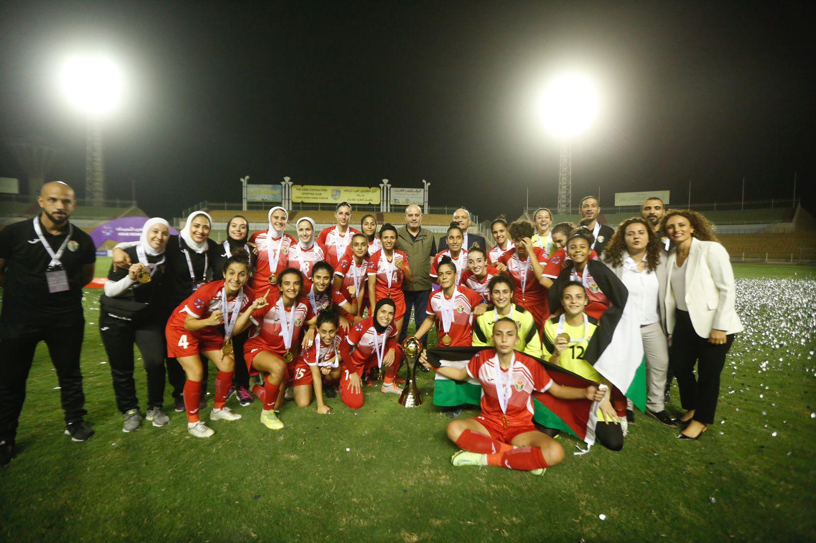 المنتخب الأردني للسيدات يحرز لقب كأس العرب 2021 في كرة القدم