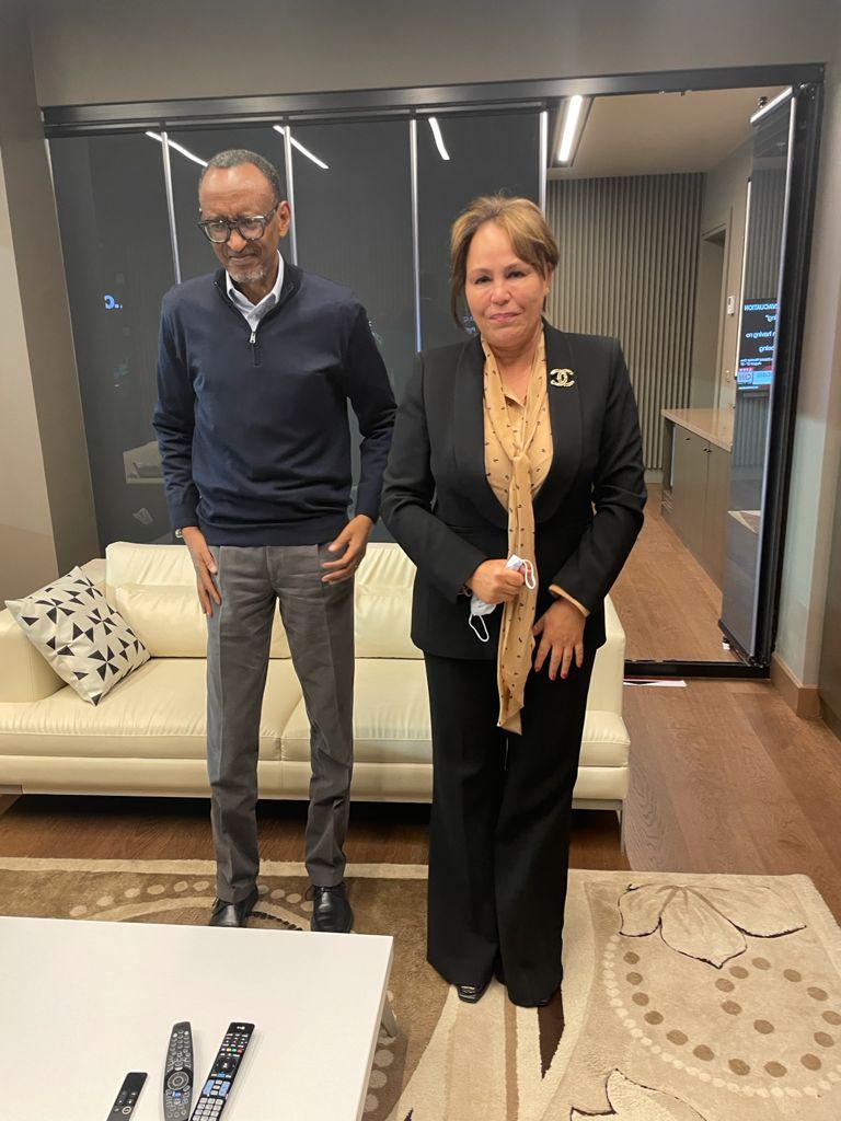 الرئيس الرواندي يستقبل بشرى حجيج رئيسة الكونفيدرالية الافريقية للكرة الطائرة
