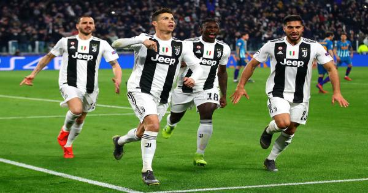 تحليق أسهم يوفنتوس بعد تأهله إلى ربع النهائي بثلاثية رونالدو