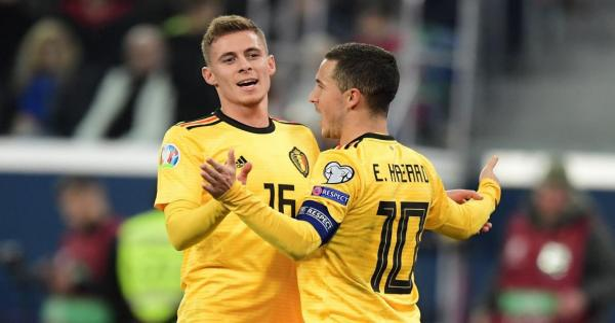تصفيات كأس أوروبا 2020: الشقيقان هازار يقودان بلجيكا لمواصلة العلامة الكاملة